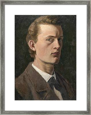 Self-portrait Framed Print by Edvard Munch