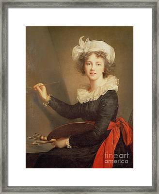 Self Portrait Framed Print by Elisabeth Louise Vigee-Lebrun
