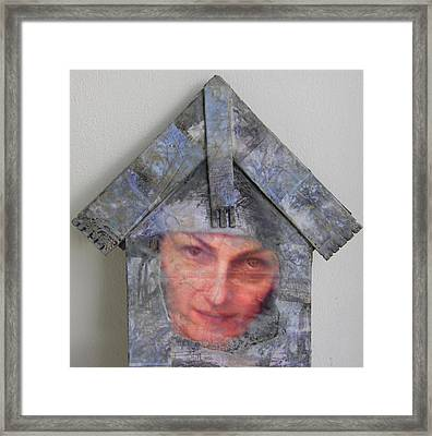 Self-portrait In A Russian House Framed Print