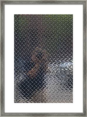 Self Portrait In Steel Framed Print