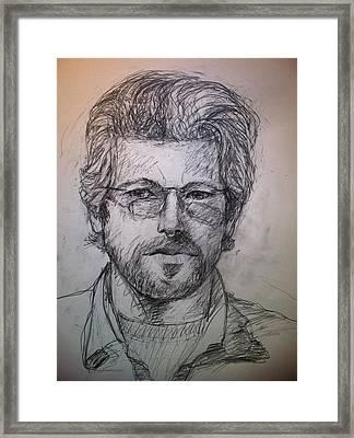 Self Portrait Framed Print by Jeff Levitch