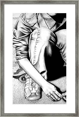 Self Portrait Framed Print by Jera Sky