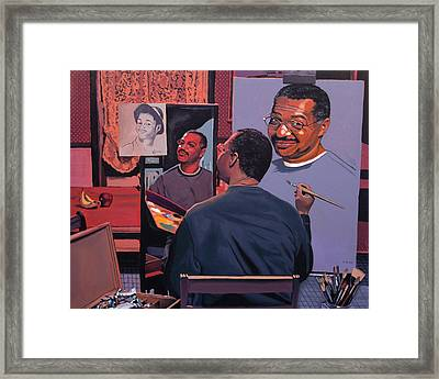 Self Portrait Framed Print by Kenneth Young