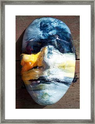 Self Portrait Life Mask Framed Print by Trey Berry