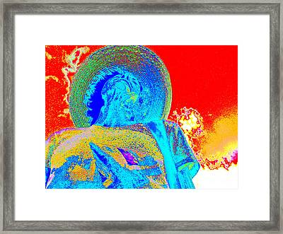 Self-portrait Framed Print by Loko Suederdiek