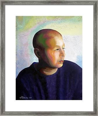 Self Portrait Mid-treatment Framed Print
