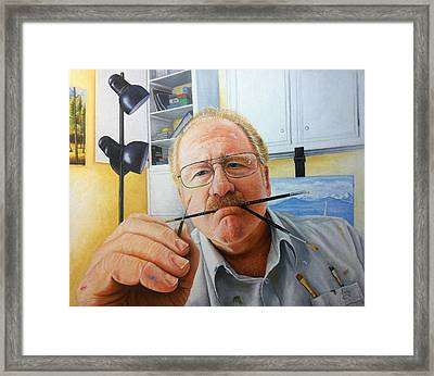 Framed Print featuring the painting Self Portrait by Mike Ivey