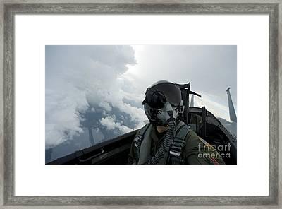 Self-portrait Of An Aerial Combat Framed Print by Stocktrek Images