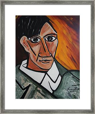Self Portrait Of Picasso Framed Print