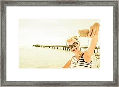 Self Portrait Pinup Framed Print by Jorgo Photography - Wall Art Gallery