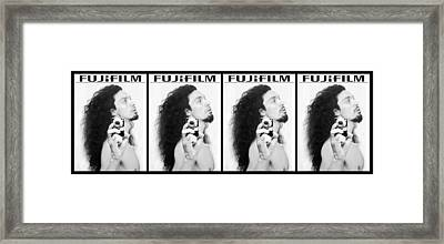 Self Portrait Progression Of Self Deception Framed Print