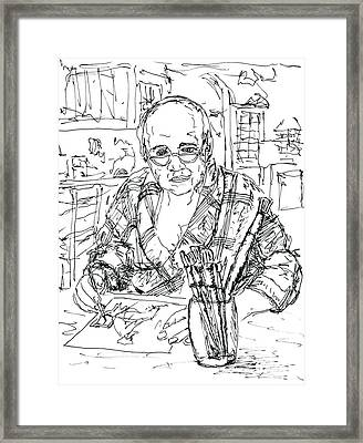 Self Portrait Six Am My Kitchen Framed Print by Randy Sprout