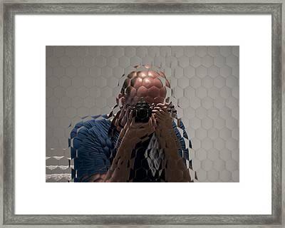 Self-portrait Through A Compound Eye  Framed Print by Gary Chapple