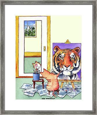 Self Portrait, Tiger Framed Print