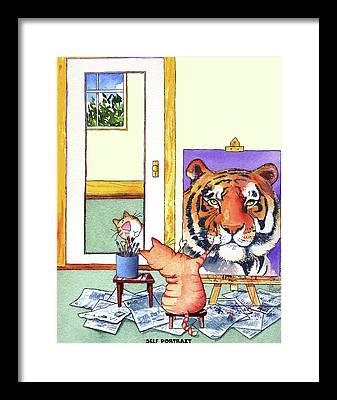 Big Cat Framed Prints