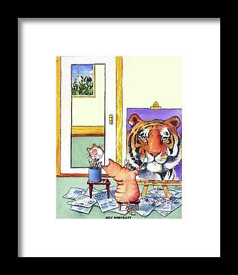 Big Cats Framed Prints