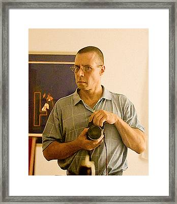 Self Portrait Two Thousand And Nine Framed Print by John Toxey