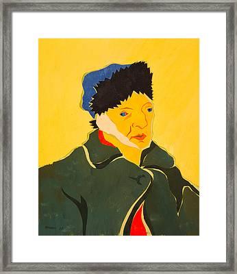 Self Portrait With Bandaged Ear. After Vincent Van Gogh Framed Print by Vitali Komarov