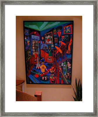 Self Portrait With Ghost Framed Print by Lee M Plate