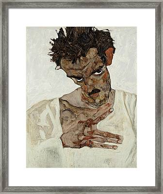 Self-portrait With Lowered Head Framed Print