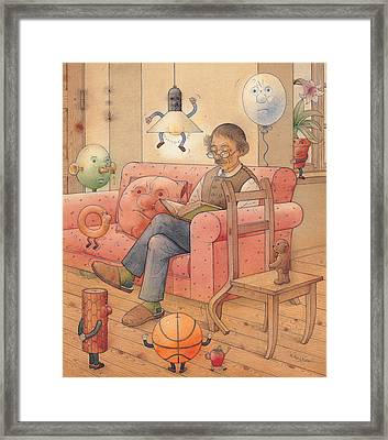 Self-portrait With My Things Framed Print by Kestutis Kasparavicius