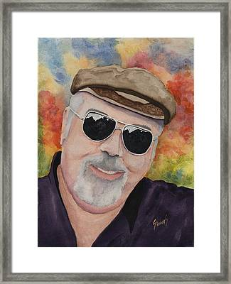 Self Portrait With Sunglasses Framed Print by Sam Sidders