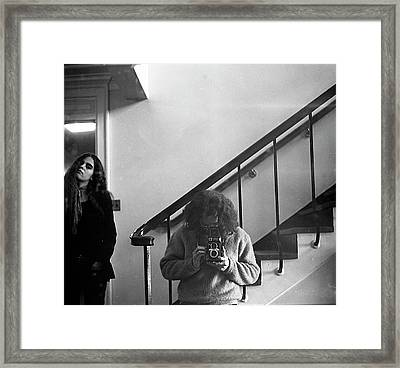 Self-portrait, With Woman, In Mirror, Cropped, 1972 Framed Print