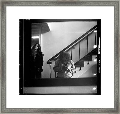 Self-portrait, With Woman, In Mirror, Full Frame, 1972 Framed Print