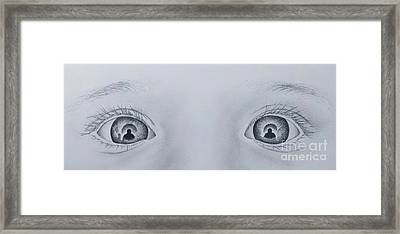 Self Portraits In A Daughters Eyes Framed Print by Stuart Attwell