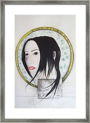 Self Saint Framed Print by Justin D B