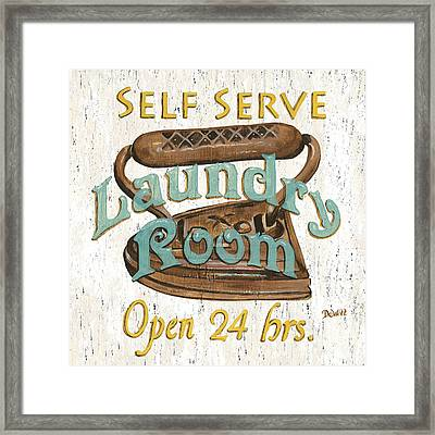 Self Serve Laundry Framed Print