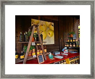 Market Honor System Framed Print by Laura Ragland