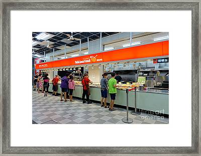 Framed Print featuring the photograph Self-service Restaurant On A Sidewalk In Kaohsiung City by Yali Shi