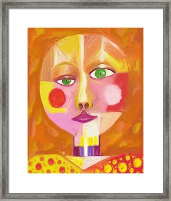 Framed Print featuring the painting Self by Shelley Bain