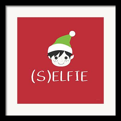 Christmas Greeting Digital Art Framed Prints