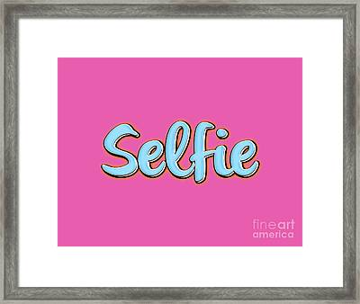 Selfie Tee Framed Print by Edward Fielding