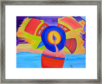 Selfmade Energy Framed Print by Rene GEORGES