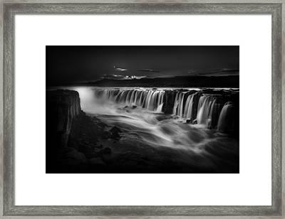 Selfoss Waterfall Iceland Framed Print by Bill Devlin