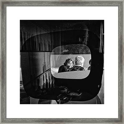 Selfportrait With Pop Lady  #people Framed Print