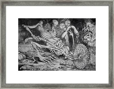 Selfpropelled Beastie Seeder Framed Print