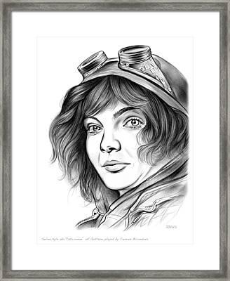 Selina Kyle Framed Print by Greg Joens