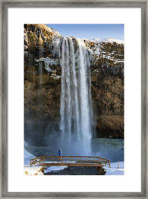 Framed Print featuring the photograph Seljalandsfoss Waterfall Iceland Europe by Matthias Hauser