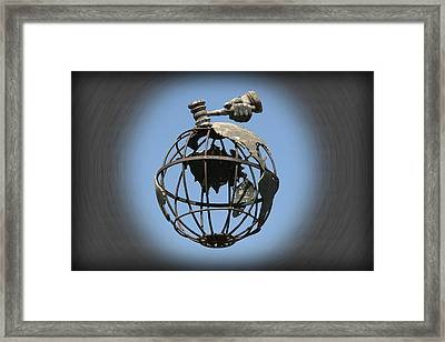 Sell The World Framed Print