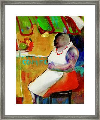 Selling Fruit In Colombia Framed Print