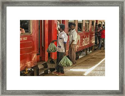 Selling Fruit To Train Passengers Framed Print by Patricia Hofmeester