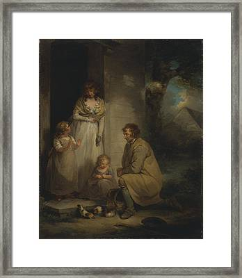 Selling Guinea Pigs Ca. 1789 Framed Print by George Morland