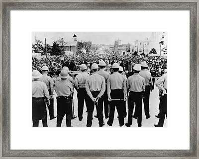 Selma To Montgomery March Completed Framed Print