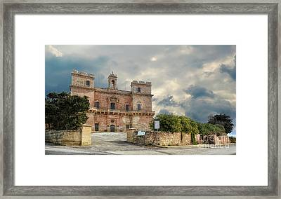 Selmun Palace On A Winter Day Framed Print by Stephan Grixti