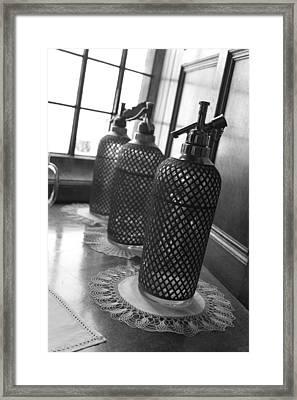Seltzer Bottles Framed Print by Lauri Novak