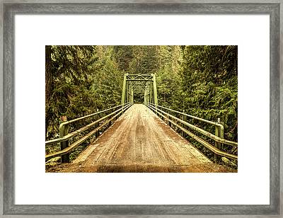 Selway River Bridge Framed Print